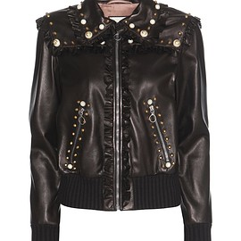 GUCCI - Pre-Fall 2016 Embellished leather bomber jacket