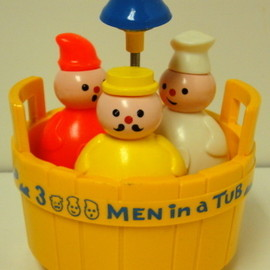 1970s FISHER PRICE TOY - THREE MEN IN A TUB
