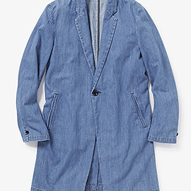 N.HOOLYWOOD - DENIM CHESTER FIELD COAT