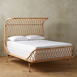 Anthropologie - Rattan Curved Bed