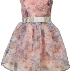 TOPSHOP/TOPMAN - Floral Organza Prom Dress By Dress Up Topshop**