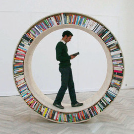 Library Installation Circles `Round Bookcases