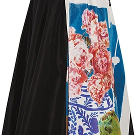 Prada - Printed silk-faille midi skirt