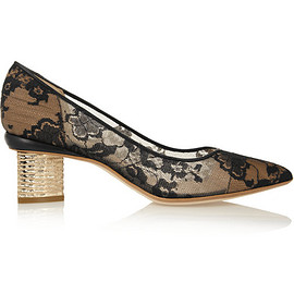 Nicholas Kirkwood - Lace and leather pumps