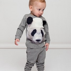 Popupshop - ss15 Night Wear Panda/Grey Melange