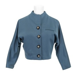 Olympia Le-Tan - Blue jersey jacket
