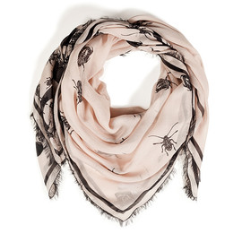 McQ, Alexander McQueen - Swarming Beetle Scarf in Rose Pink