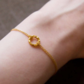 burnish - Gold Eternity Circle Bracelet