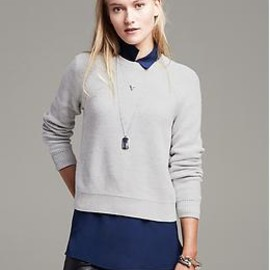 Banana Republic - back cut out cropped pull over
