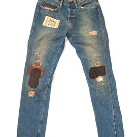RALPH LAUREN - BROOKLINE PATCHWORK REPAIRED DENIM