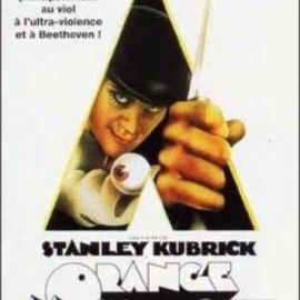 Stanley Kubrick - Orange Mecanique フランス版大型ポスター