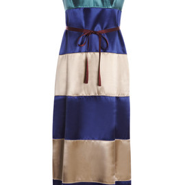 MARC JACOBS - Belted Color-Block Satin Tank Dress
