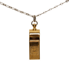 s'yte - gold whistle necklace