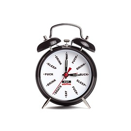 HUF - CLASSIC WIND UP ALARM CLOCK