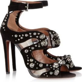 Azzedine Alaia - Crystal suede shoes
