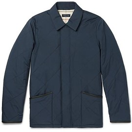 Loro Piana - Leather-Trimmed Quilted Storm System® Shell Jacket