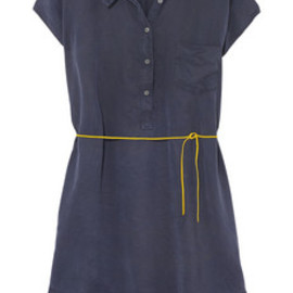 Levi's - Navy blue dress with yellow leather tie
