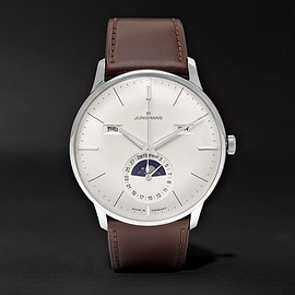 Junghans - Meister Kalender Stainless Steel and Leather Watch