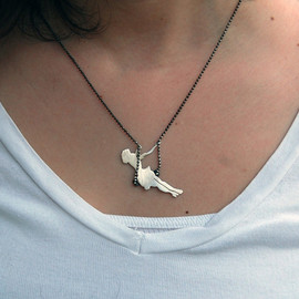 Swinging Pinup Girl Necklace