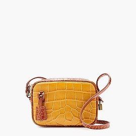J.CREW - Mini Signet bag in embossed croc leather