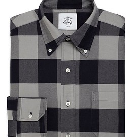 BLACK FLEECE BY Brooks Brothers - Buffalo Check Oxford Button-Down Shirt (GREY-NAVY)