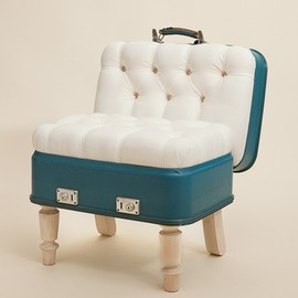 REcreate - Suitcase Chair – White Silverline