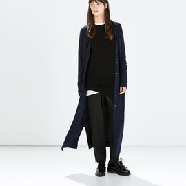 Zara - LONG CARDIGAN WITH POCKETS AND SLITS