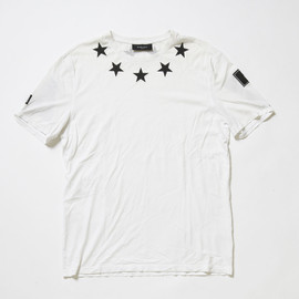 Givenchy by Riccardo Tisci - Star Patterned Neck Tshirt