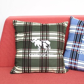 COW BOOKS - Reading Cushion #green flannel