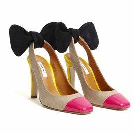 CARVEN - Bow slingback pump