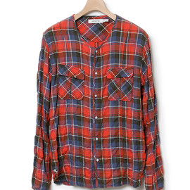 nonnative - ROAMER SHIRT - C/P NEL CHECK