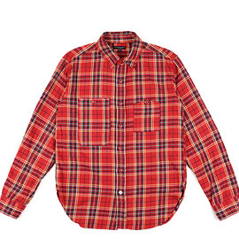 ENGINEERED GARMENTS - Work Shirt-Heavy Twill Plaid-Red/Ylw