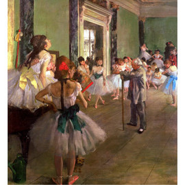 Edgar Degas - The Dancing Class print