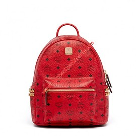 MCM - MCM Small Stark Side Studs Visetos Backpack In Red