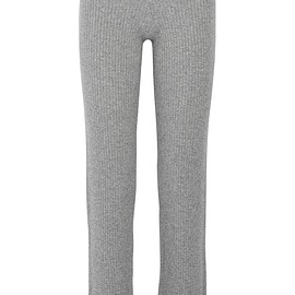Theory - Goshun ribbed cashmere-blend straight-leg pants