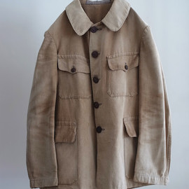 LILY1ST VINTAGE - 1900-20's french hunting jacket brown duck