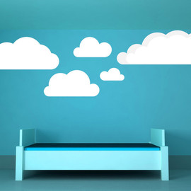 VinylWallAccents - Clouds - Vinyl Wall Art Decal
