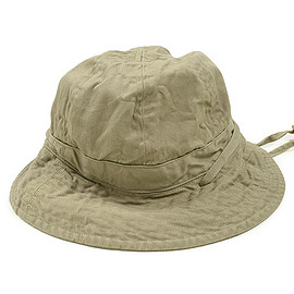 ENGINEERED GARMENTS - Explorer Hat-6.5oz Flat Twill-Khaki