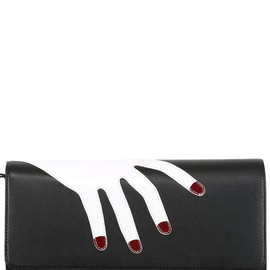 PERRIN PARIS - PRENDS MOI HEAD EMBROIDERY LEATHER BAG