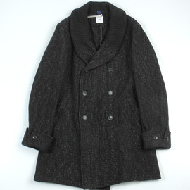 Irish Country Plaid Donegal Tweed Cloth Quilted Coat