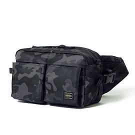 "HEAD PORTER - ""JUNGLE"" NEW WAIST BAG BLACK"