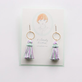Tassel Pierce mint+purple