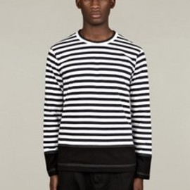 COMME des GARÇONS SHIRT - Men's Long-Sleeve Stripe T-Shirt