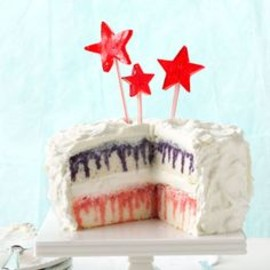 Red, White and Blueberry Poke Cake