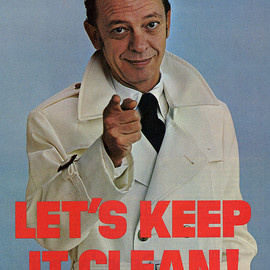"""Don Knotts Sez -  """"Let's Keep It Clean!"""" Poster, 1971"""