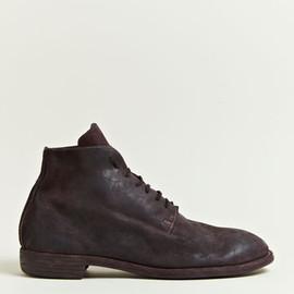 GUIDI - Guidi Men's Cordovan Lace Up Ankle Boots
