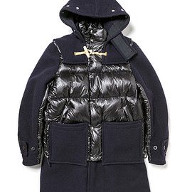 sacai - Men's sacai×Gloverall(NAVY×BLACK)