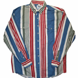 VINTAGE - Vintage 90s Roper Striped Button Down Shirt Made in USA Mens Size 17 - 17 1/2 (XL)