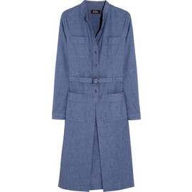 A.P.C. - A.P.C. Atelier de Production et de Création Hester cotton-chambray dress