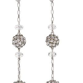 Isabel Marant - Silver-tone crystal earrings